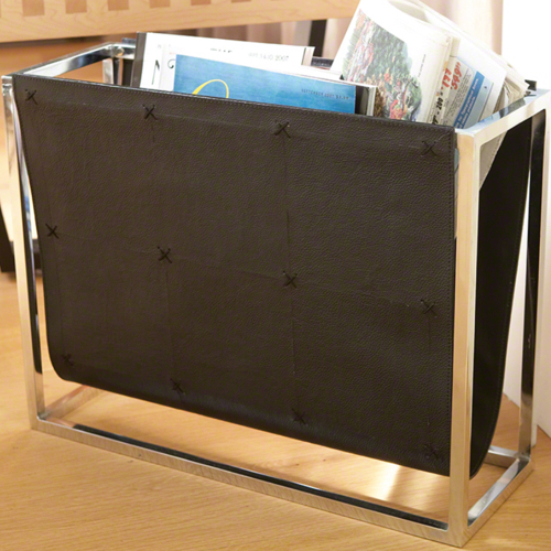 Pulp Home – Magazine Caddy – Black Leather