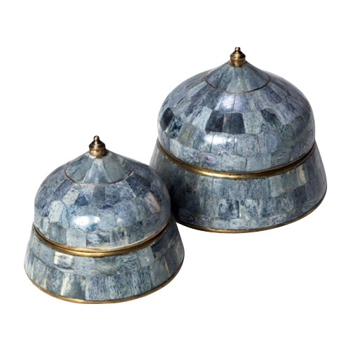 Pulp Home - Suri Round Boxes - Gray (Set of 2)