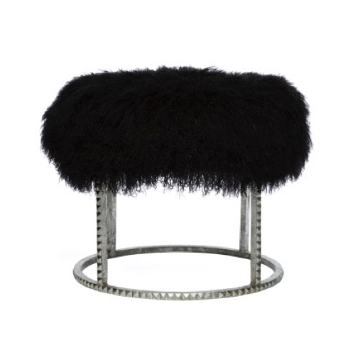 Pulp Home - Silver Stud Pouf