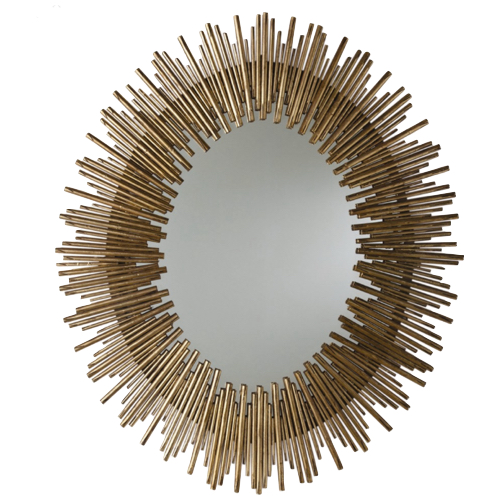 Pulp Home - Antique Gold Oval Mirror - Large