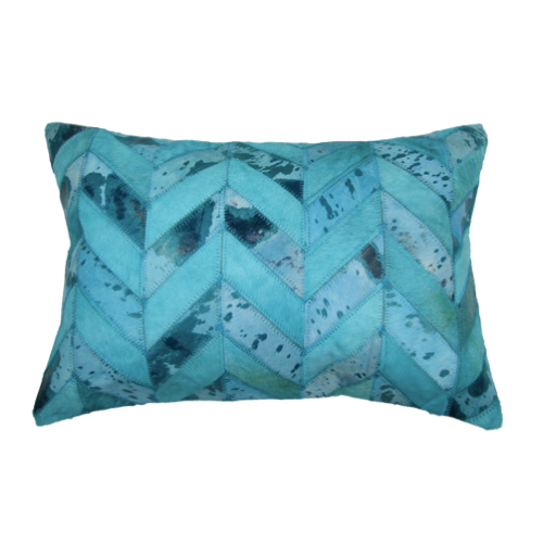 Pulp Home - Turquoise Herringbone Pillow