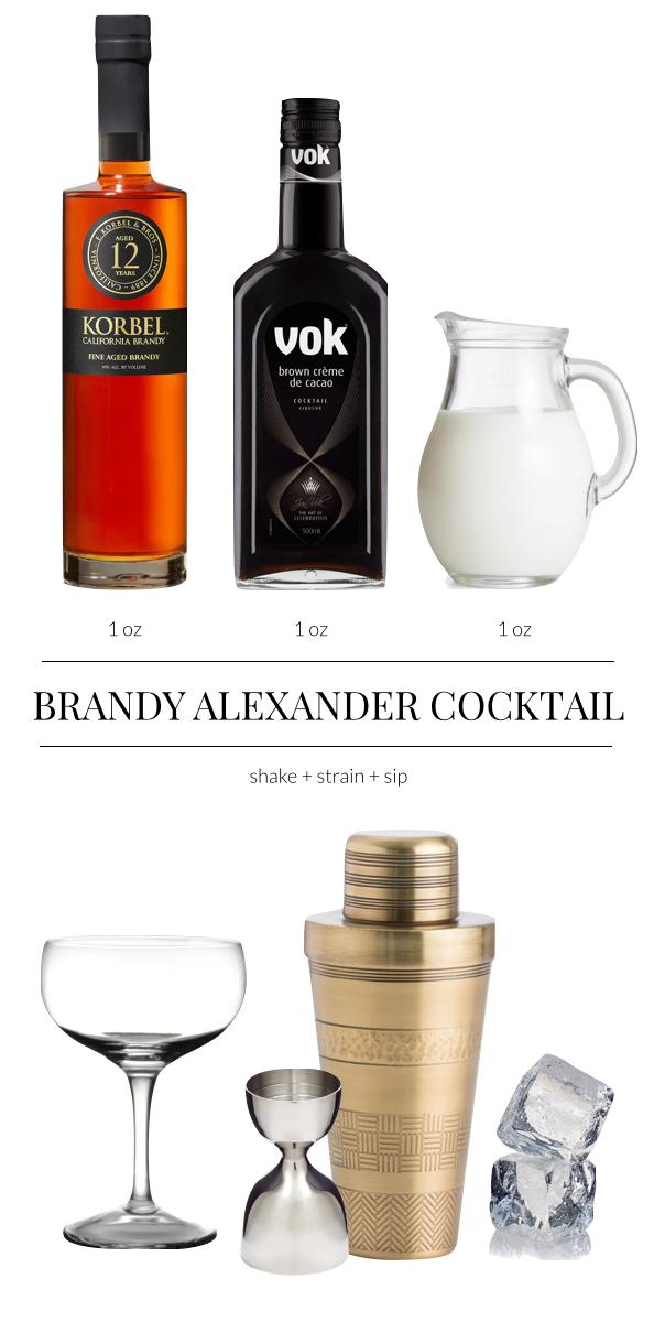 Must-try Cocktail: Brandy Alexander Ingredients