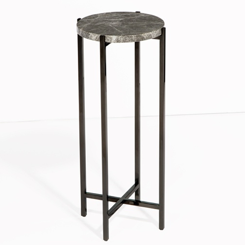 Pulp Home -Laurent Round Drink Table – Gray