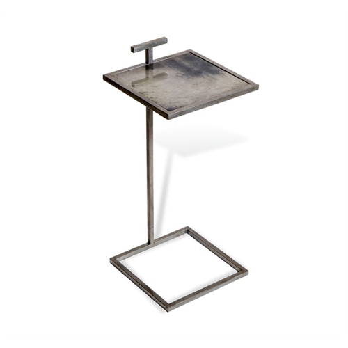Pulp Home - Soren Square Drink Table - Gray Vellum