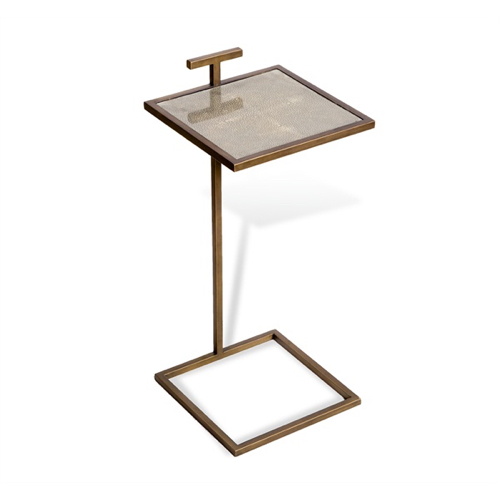 Pulp Home - Soren Square Drink Table - Shagreen