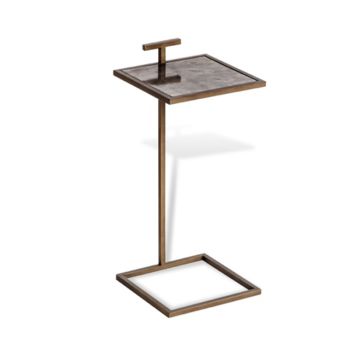 Pulp Home - Soren Square Drink Table - Brown Vellum
