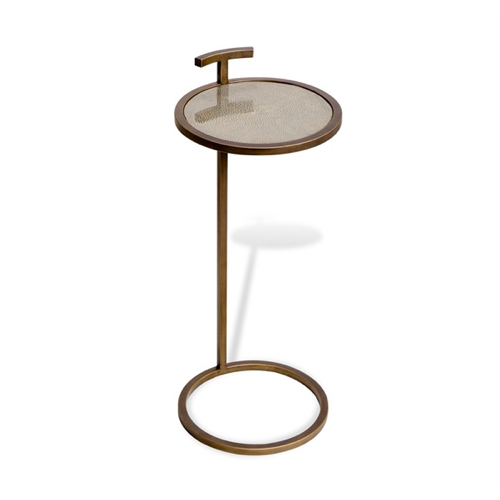 Pulp Home -Soren Circular Drink Table - Shagreen
