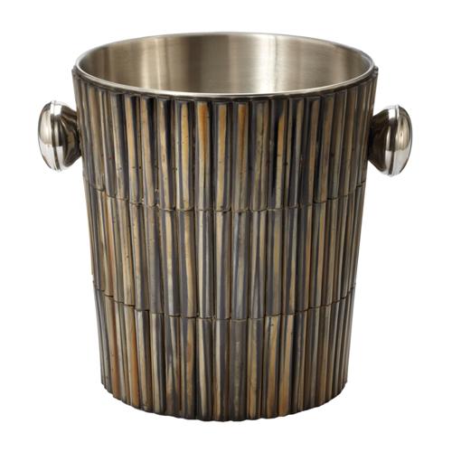 Pulp Home – Burnt Horn Dowel Ice Bucket