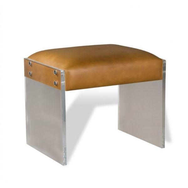 Pulp Home – Aiden Leather Stool – Tan
