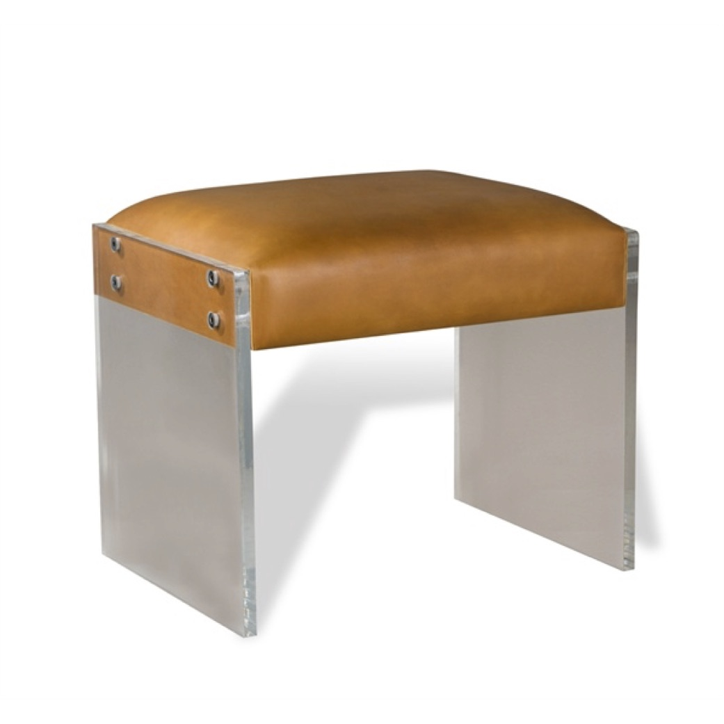 Pulp Home - Aiden Leather Stool - Tan