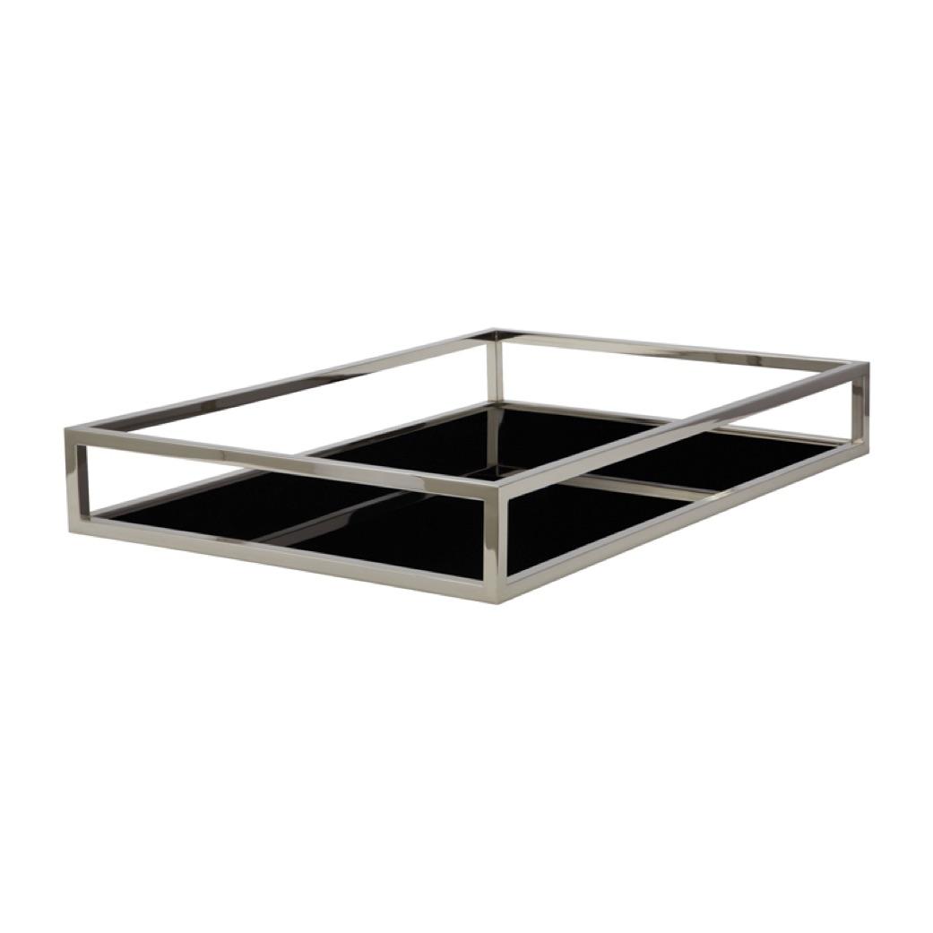 Pulp Home - Black Box Rod Square Tray