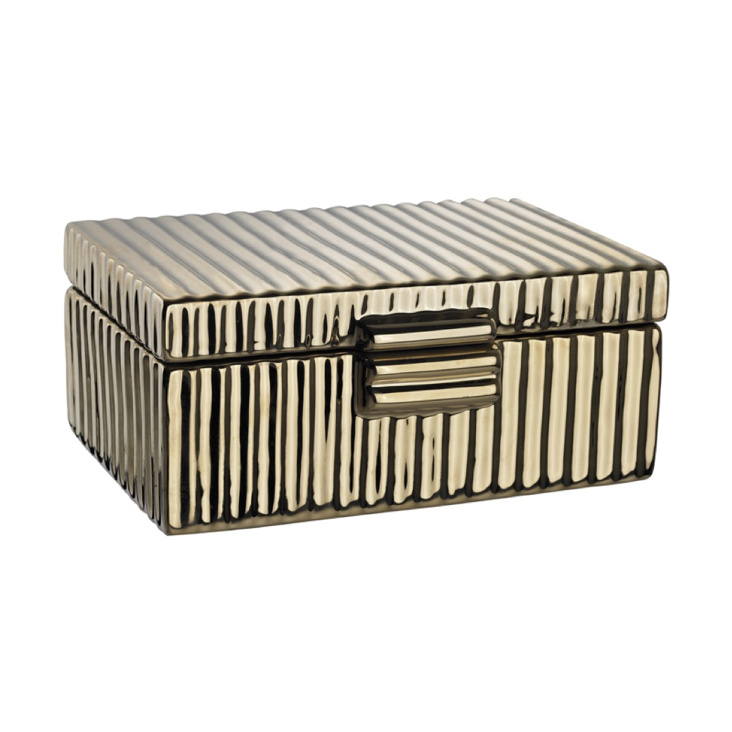 Pulp Home - Ceramic Golden Jewelery Box