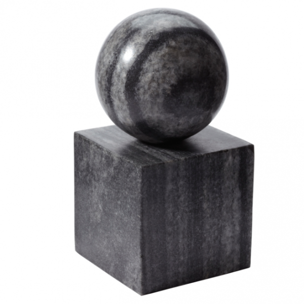 Pulp Home – Gray Marble Minimalist Bookend