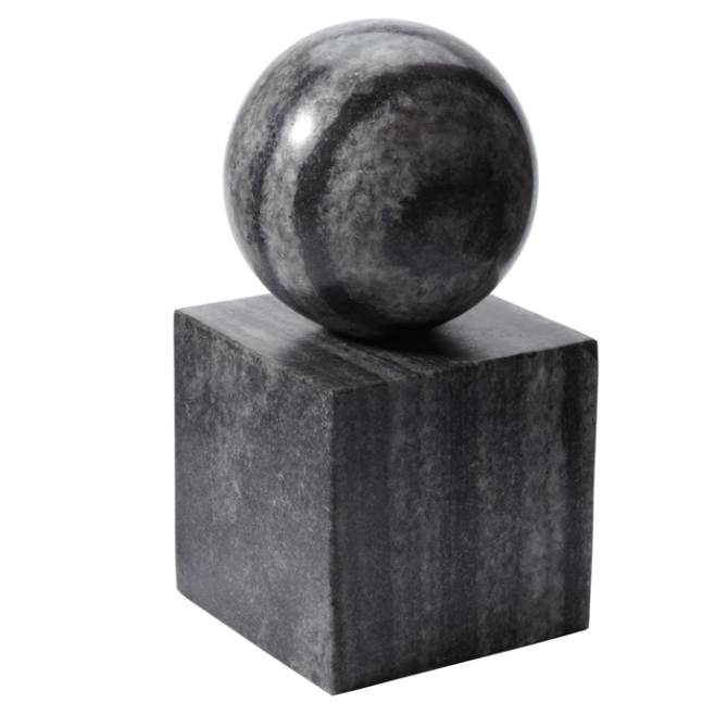 Pulp Home - Gray Marble Minimalist Bookend