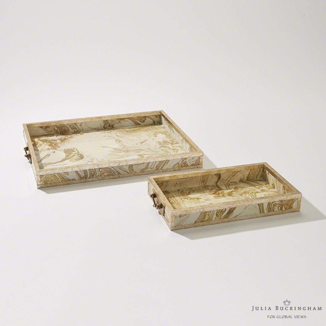 Pulp Home - Treasure Tray - Gold:Creme