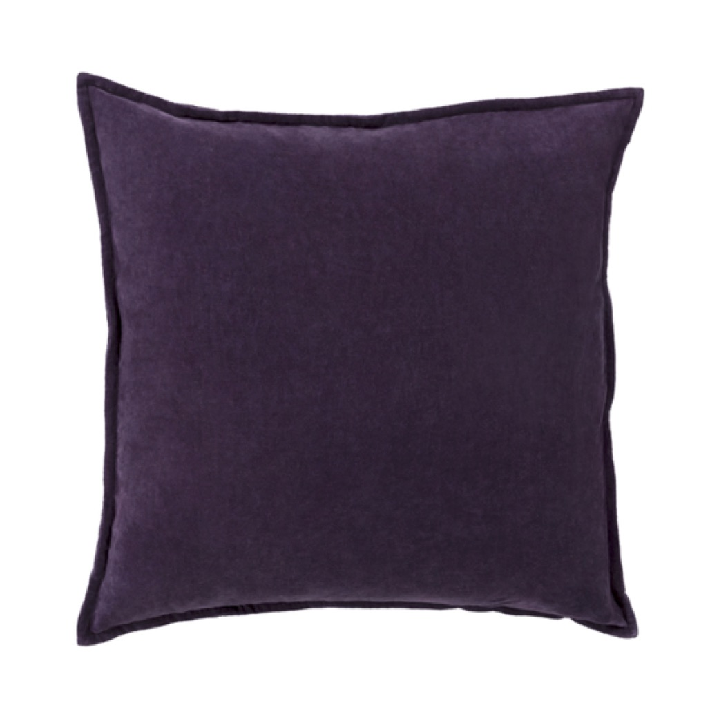 Pulp Home - Eggplant Cotton Velvet Pillow