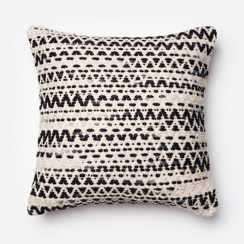 Pulp Home - Textured Black and White Pillow