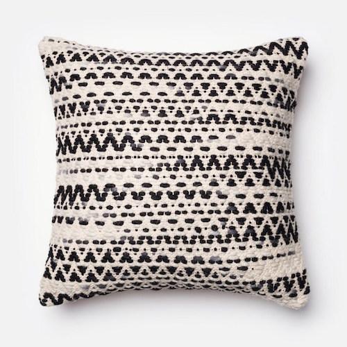 Textured Black And White Pillow Pulp Design Studios