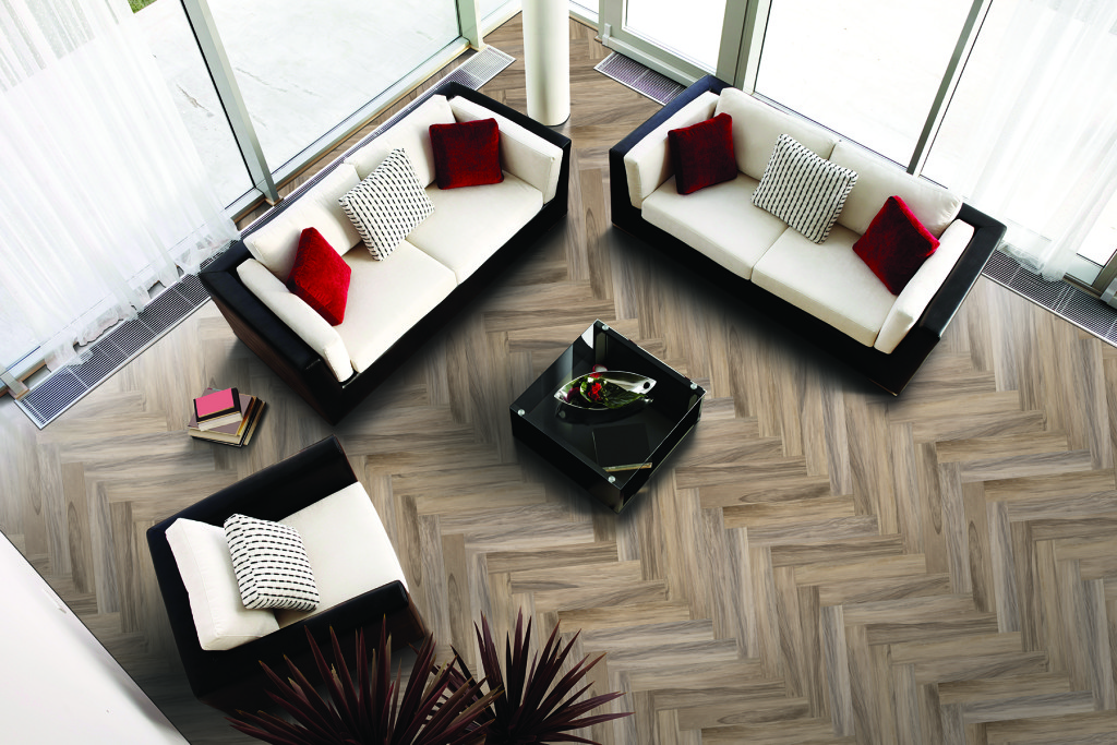 Mohawk tile wood flooring, KBIS