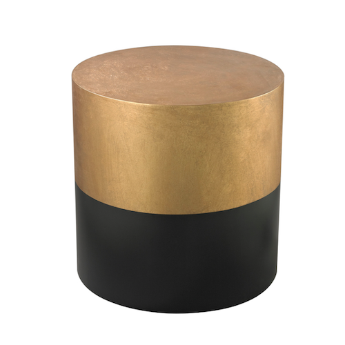 Pulp Home - Black And Gold Draper Drum Table