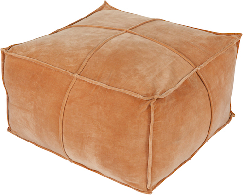 Pulp Home - Cotton Velvet Pouf - Burnt Orange