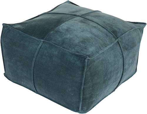 Pulp Home - Cotton Velvet Pouf - Teal