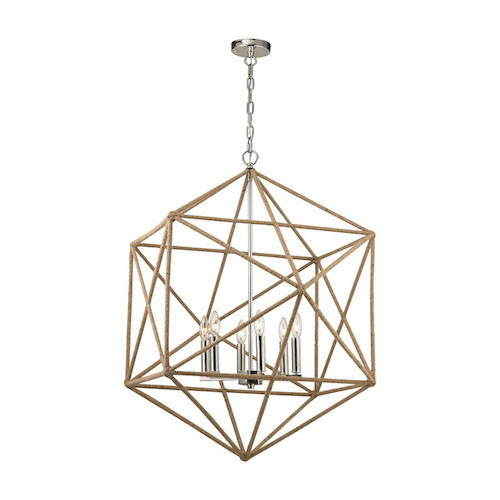 Pulp Home - Exitor 6 Light Chandelier In Polished Nickel