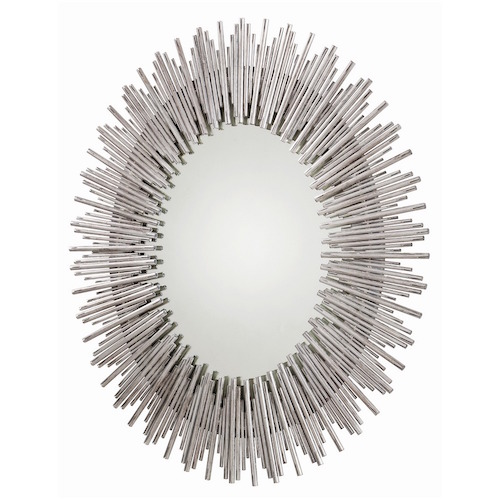 prescott large oval mirror silver pulp design studios