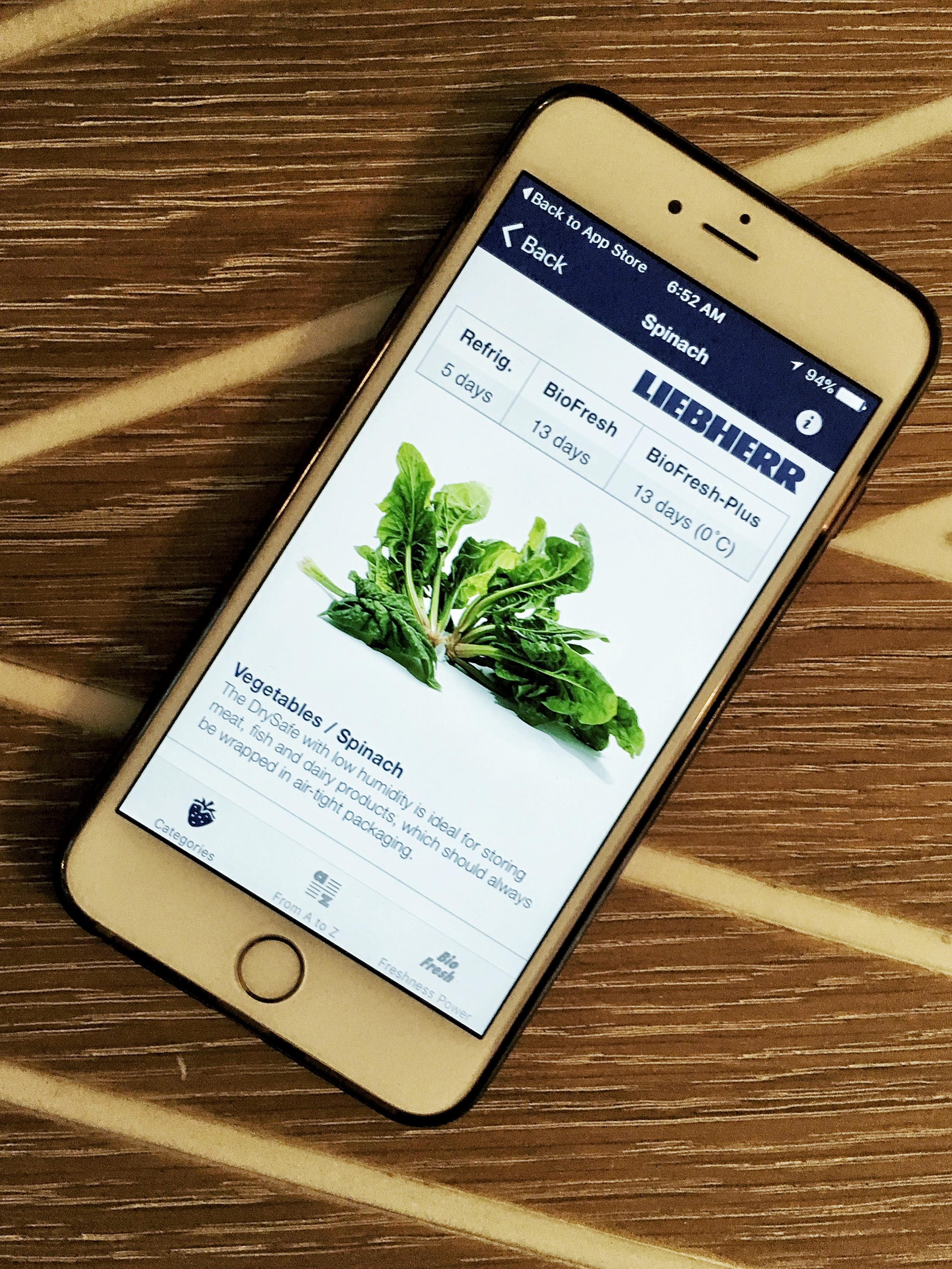 Liebherr Freshness App