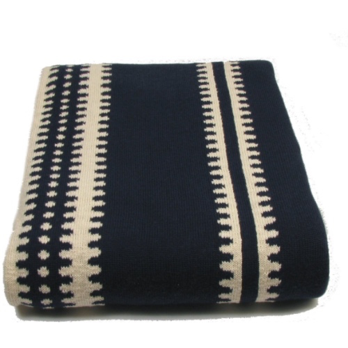 Pulp Home – Margarita Throw – Navy:natural