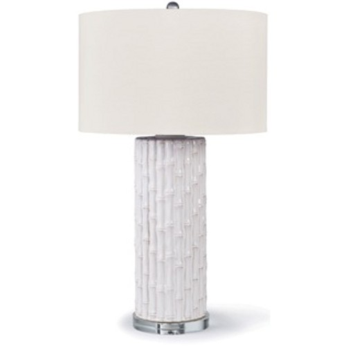 Pulp Home - White Ceramic Bamboo Lamp