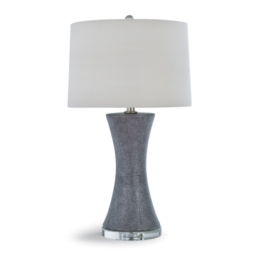 Pulp Home - Clara Ceramic Shagreen Lamp - Charcoal