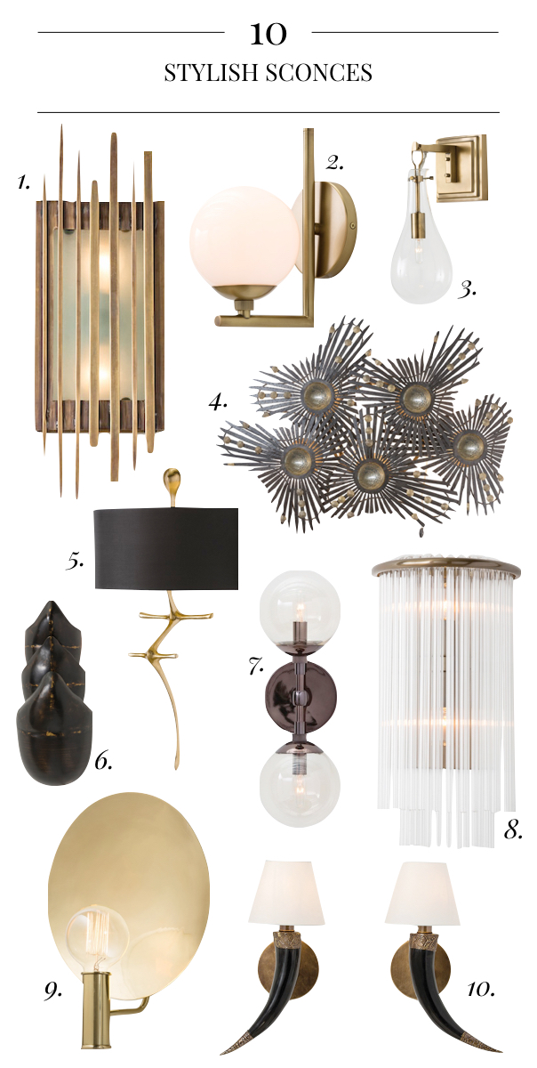 10 Stylish Sconces, Sconces with Style, Pulp Home Sconces, Pulp Home Lighting