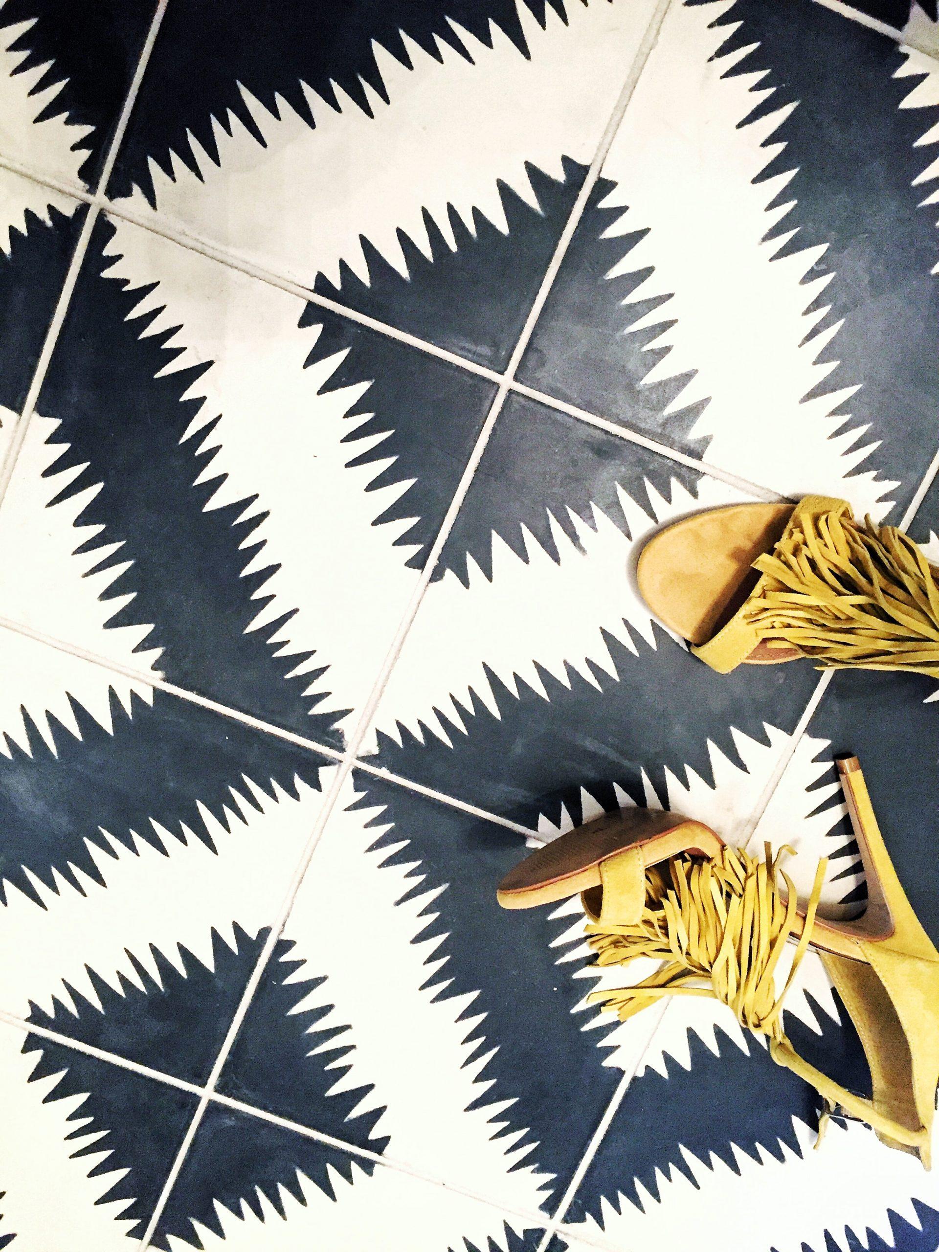 Ann Sacks Black and White Tile, Graphic Tile, Black and White Tiles, Concrete Tile, Modern Tile