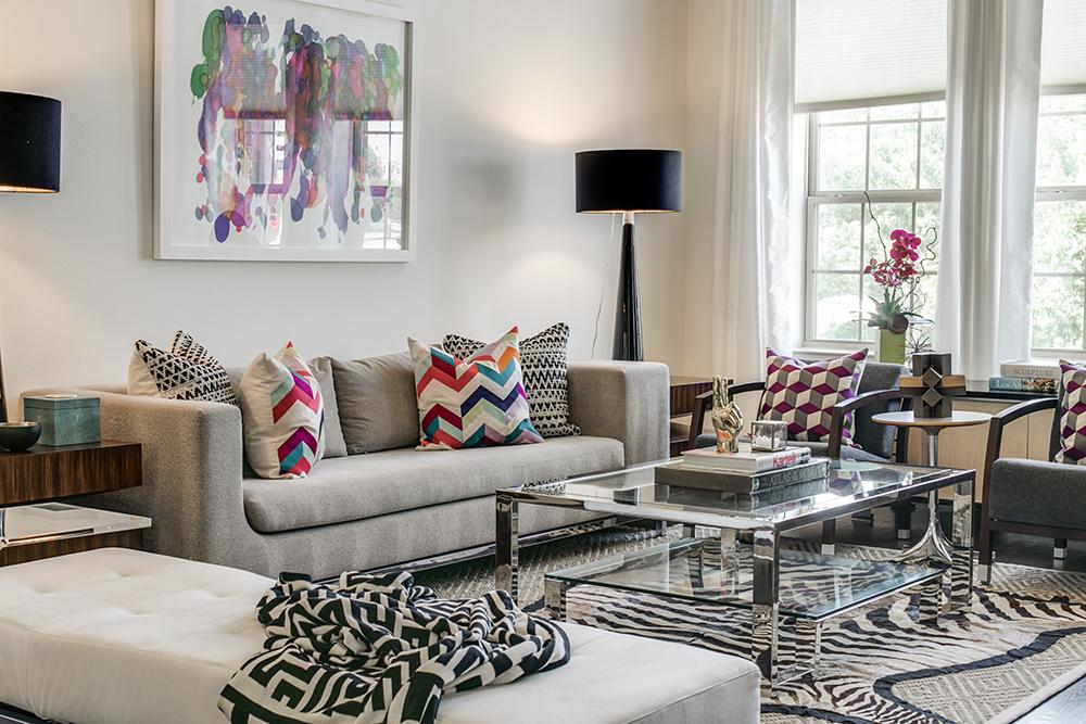 Pulp Design Studios Vibrant Townhome Living Room Furniture