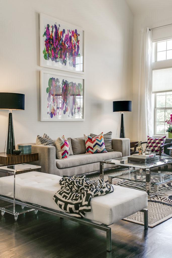 Pulp Design Studios Vibrant Townhome Living Room