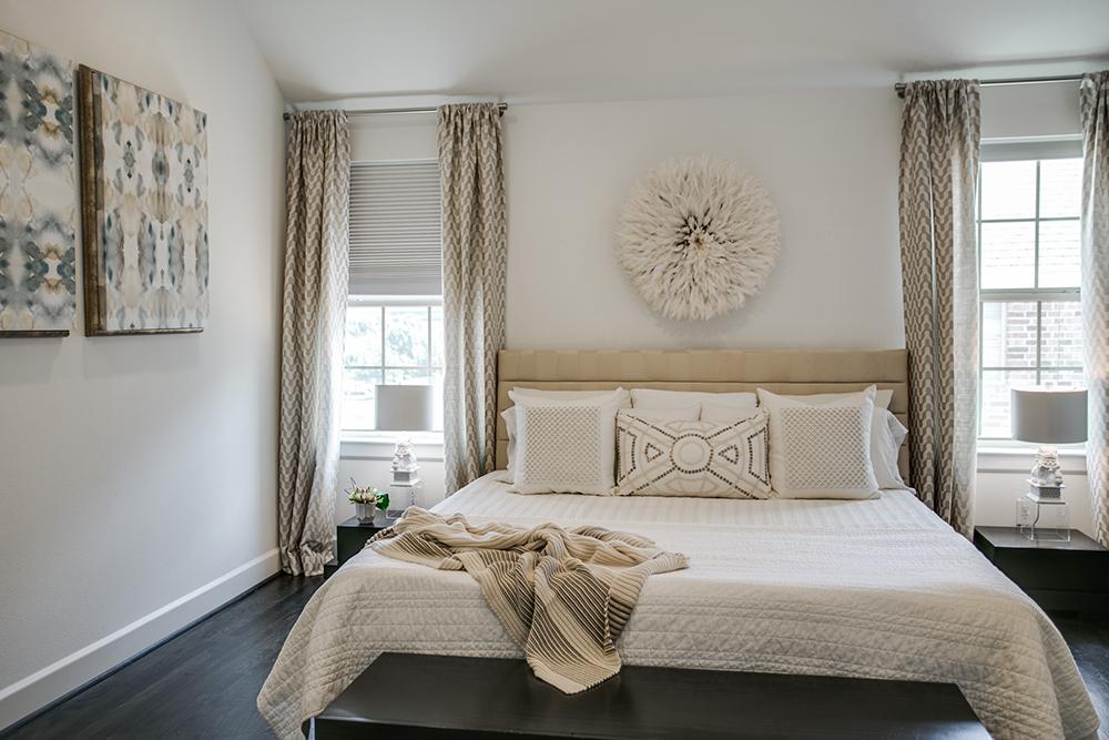 Pulp Design Studios Vibrant Townhome Master Bedroom Overall