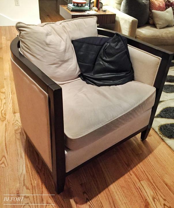 before ultrasuede chair