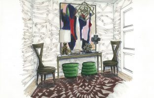 Traditional Home Showhouse: Creating the Wall Covering