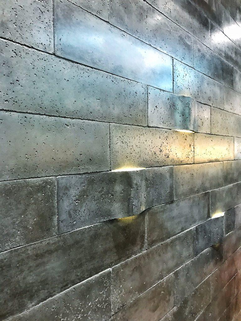 Ann Sacks Concrete Tiles with lighting KBIS 2017