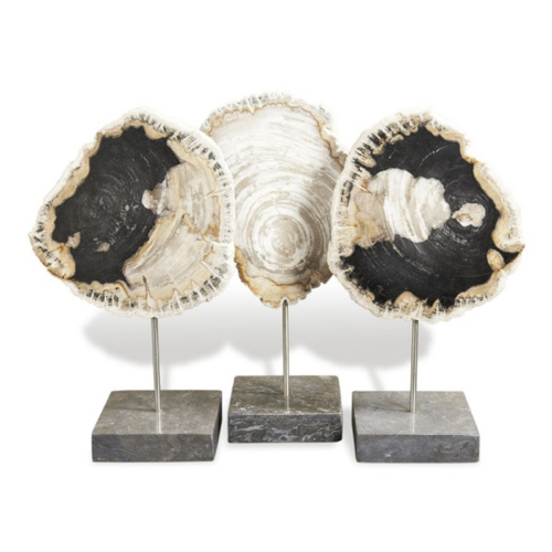 petrified wood, petrified wood sculpture, trio sculpture