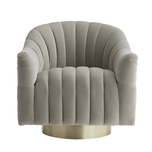 Springsteen Swivel Chair in Champagne Flint Velvet