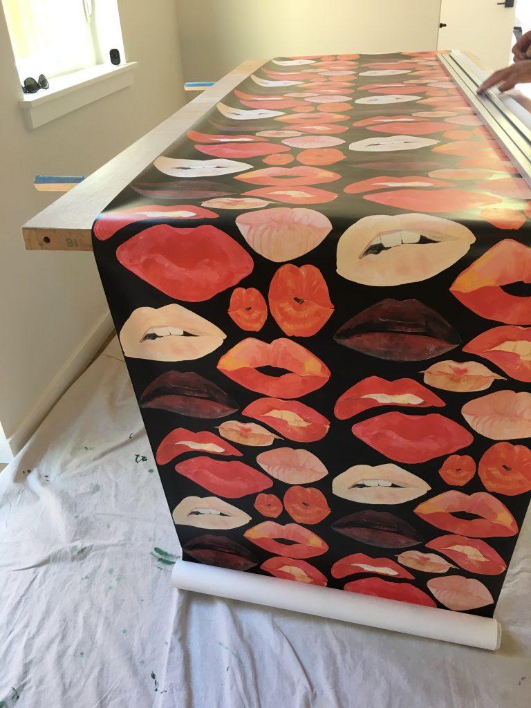 Lips Wallcovering installation