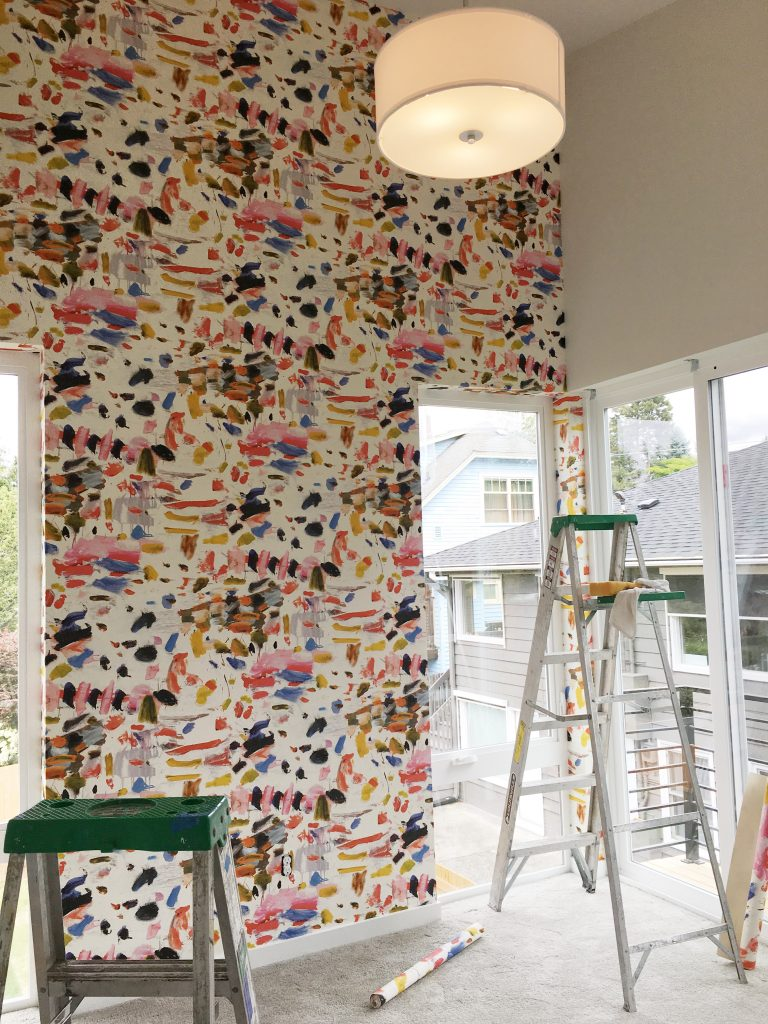 Guest and Play Room wall covering installation