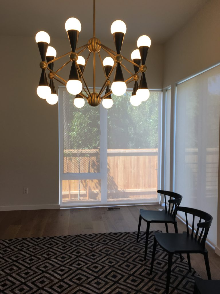 Dining Room Lighting and Seating Installation