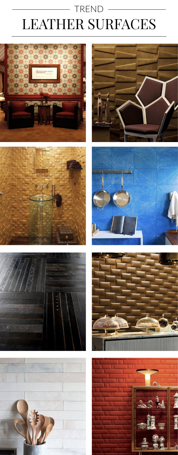 Interior Trend spotted by Pulp Design Studios - Leather Surfaces