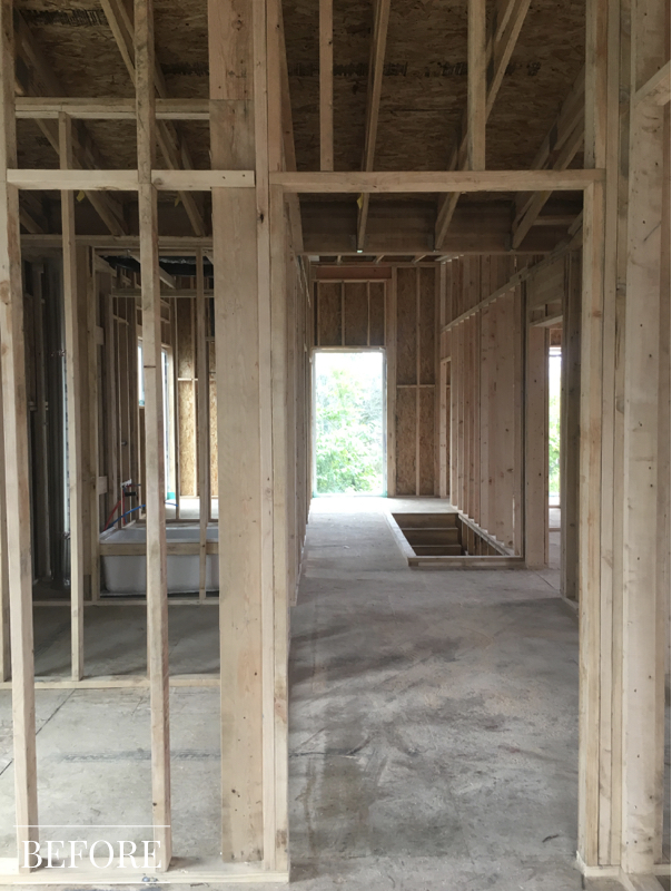Modern Family Home Before- Construction Site
