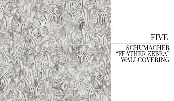 Pulp Design Studios Trend Pick - Feather Zebra by Schumacher