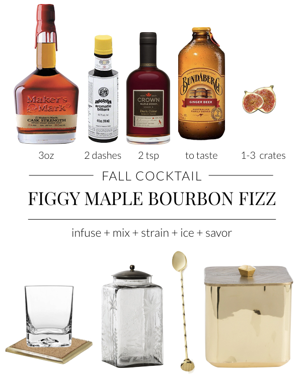 Figgy Maple Bourbon Fizz Cockail Recipe