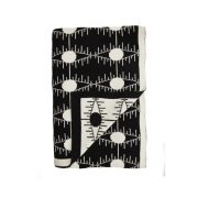Pulp Design Studios Kismet Lounge Eye of Ra Reversible Throw Blanket Black and White